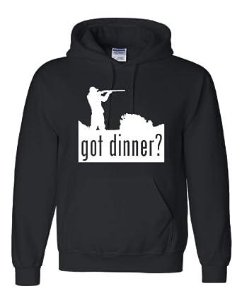 Got Dinner Funny Hunter Deer Duck Hunting Sweatshirt Hoodie: Clothing