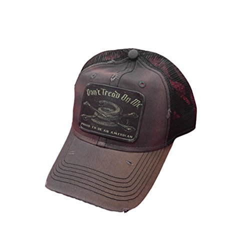 Don't Tread on Me Gadsden Flag Distressed Trucker Baseball Cap Charcoal