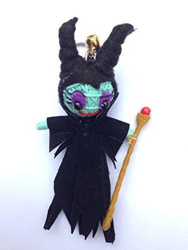 Maleficent Fairy Voodoo String Doll Keychain Keyring Charm Ornament