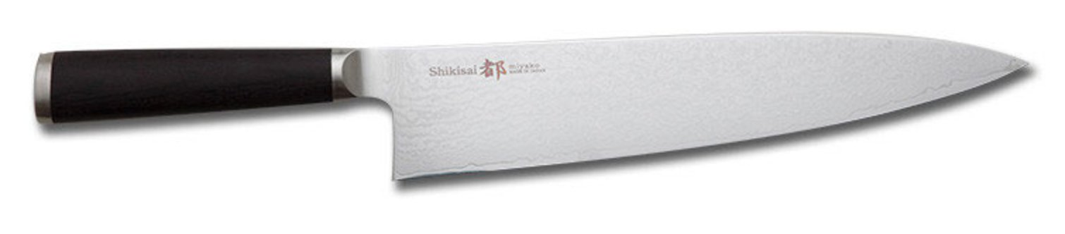 Miyako Japanese 33 Layers Damascus Steel Chef's Knife, 9.5-In / 24-Cm With Wooden Handle by Miyako