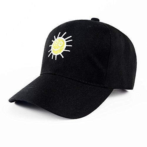 Ladies winter Baseball Cap Hat travel leisure cap visor male all-match sun hat and Ms. peaked cap,Adjustable,Solar black