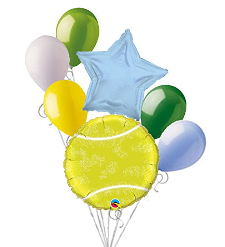 7 pc Tennis Ball Balloon Bouquet Party Decoration Happy Birthday Father Court   B071CGS5RG