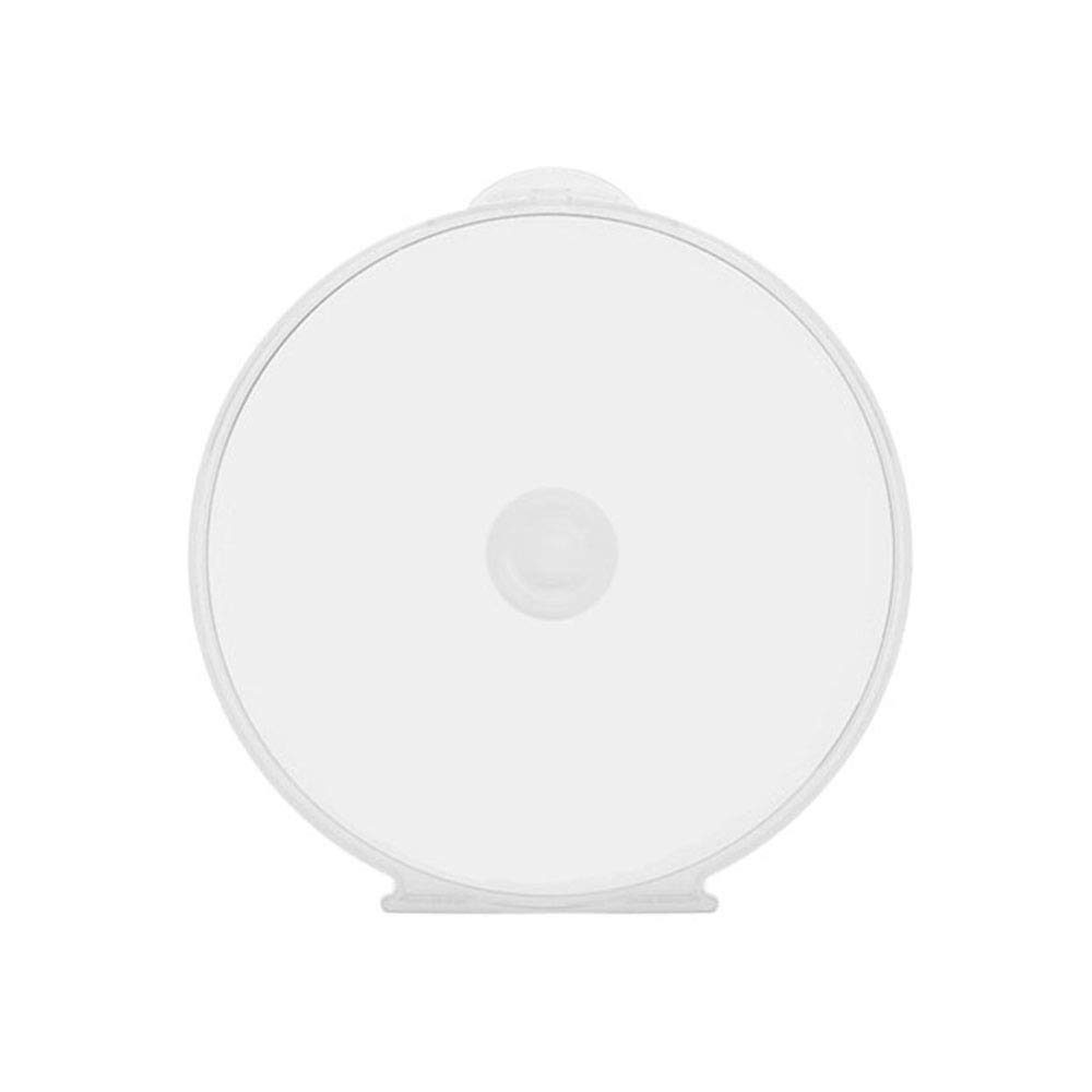 Maxtek 50 pack Clear Transparent Round ClamShell CD DVD Case, with Lock