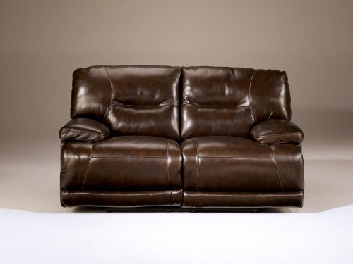 Signature Design by Ashley 4240174 Exhilaration Collection Power Reclining Loveseat, Chocolate