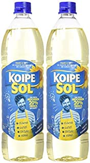 Koipesol Aceite De Semillas Girasol, 1000 ml, paquete de 2