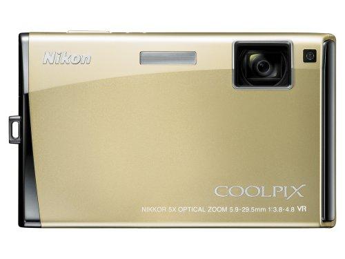 Nikon Coolpix S60 10MP Digital Camera with 5x Optical Vibration Reduction (VR) Zoom (Platinum Bronze)