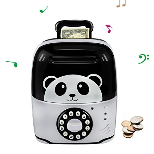 Merry Christmas Bingo - Piggy Bank for Boys Girls, Gen 2, Add 11 Songs, Built-in Handle, Counterfeit Bill Detection, Password Toy Bank ATM, Money Safe for Kids by Winkeyes