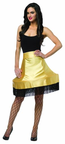 Rasta Imposta Women's Christmas Story Leg Lamp Skirt, Black/Gold, One Size -