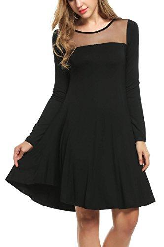 with cindere Dress wear Women Leggings Black Tops for to Tunic Sleeves Black Dresses Dresses Tunic Full wzwrB