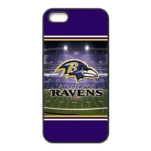 Custom Baltimore Ravens NFL Back Cover Case for iphone 5,5S JN5S-1187