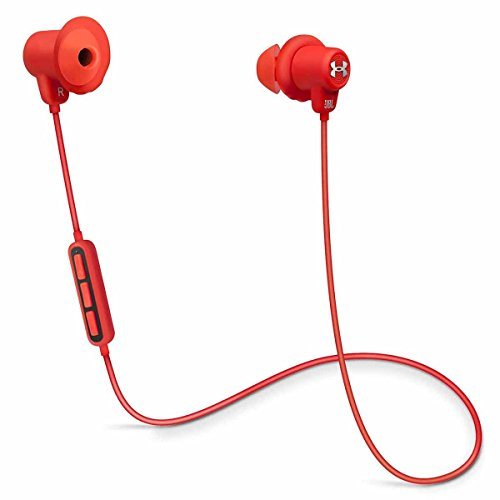 JBL Under Armour Wireless Headphones with Three-Button Remote and Microphone (Red)