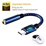 Soditer Pixel 2 Headphone Adapter,USB C to 3.5mm Adapter,USB C Dongle Headpone Jack Has Realtek DAC Hi-Res, Type c Earphone Convert for Pixel 2/2XL/3/3XL, MacBook 2017 IPad Pro 2018, Moto Z2, OnePlus