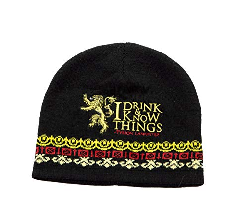 Game of Thrones Unisex Knit Winter Beanie (Drink & Know Things)
