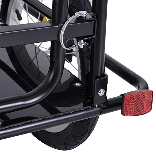 Bike Cargo Storage Cart and Luggage Trailer with Hitch Folding Bicycle Black by Caraya (Image #7)