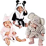 Baby Kids Hooded Animal Modeling Cloak Baby Bathrobe...