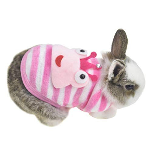 Winter Warm Fleece Bunny Rabbit Clothes Cute Small Animal Guinea Pig Chinchilla Ferret Angel Costume Accessories Outfit…