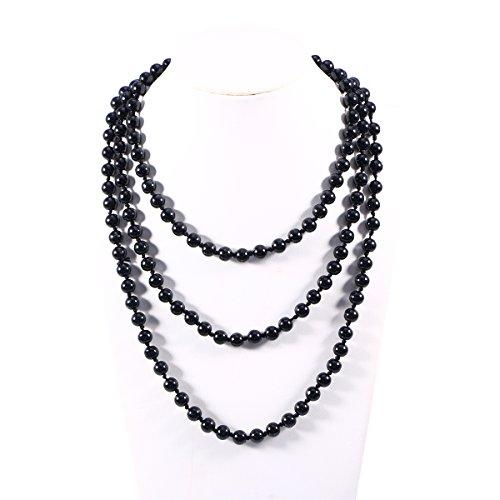 (BESTOYARD Pearl Bead Necklaces 60