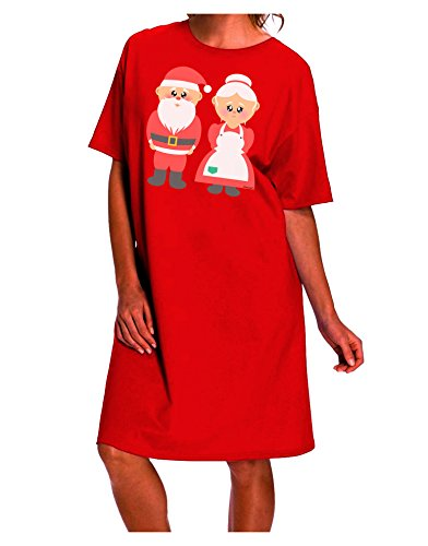 f565a77fd5 ... Loud Mr and Mrs Santa Claus Couple Christmas Dark Night Shirt Dress ...