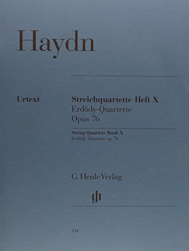 (String Quartets Book X Op 76 Nr 1-6 Erdody Quartets (Haydn))