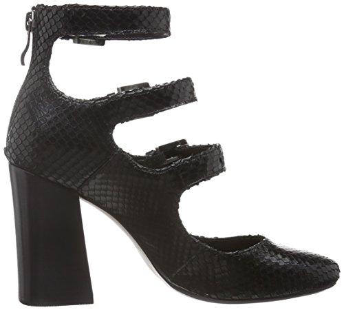 Bronx Women's Aleza Closed Toe Heels, 3.5 Black (Black 01)