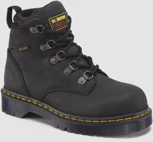 Dr. Martens Holkham Steel Toe Hiker,Black,6 UK/8 M US Women's/7 M US Men's by Dr. Martens