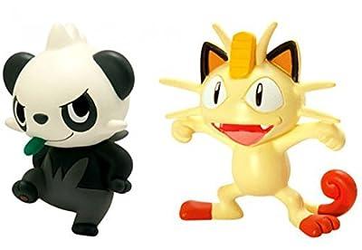 Pokemon Action Pose Meowth vs. Pancham 2-Inch Mini Figure 2-Pack