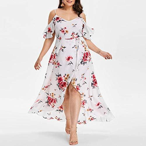 VEMOW Faldas Mujer Vestido Largo Estampado de Flores con Estampado ...