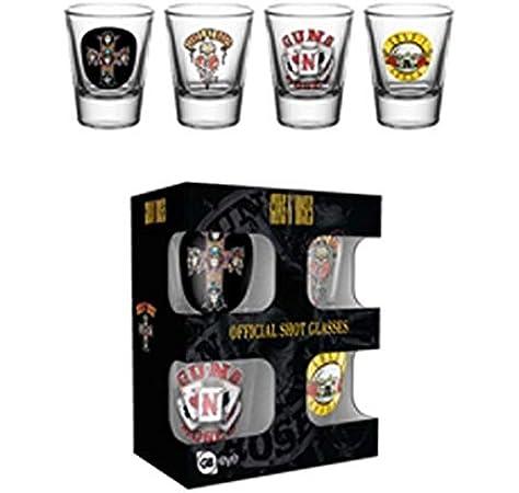 GB eye Set 4 Vasos chupito Guns N Roses, Giallo, Standard: Amazon.es: Hogar