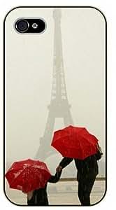 iPhone 4 / 4s Rainy Eiffel Tower - black plastic case / Paris, France