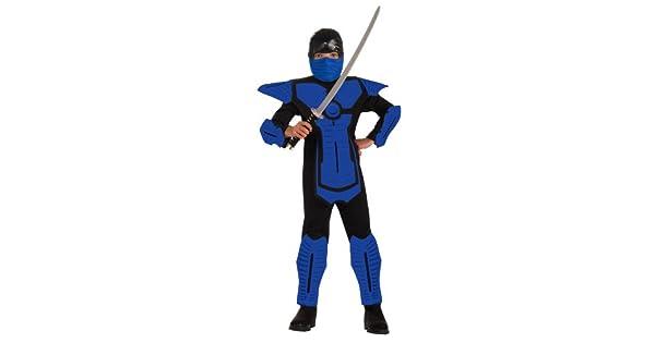 Amazon.com: Disfraz de ninja azul para niños., L, Un ...