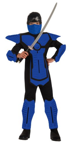 Kids Blue Ninja Costume - Child's Blue Ninja Costume, Small