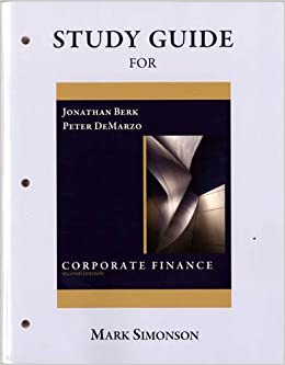Book Study Guide for Corporate Finance