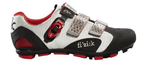Fizik Men's M5 Uomo Mountain Bike Shoes, Black/Silver/Red, S