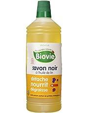 Biovie Savon Noir Liquide à l'Huile de Lin 1 L