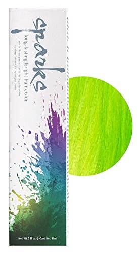 SPARKS Long Lasting Bright Permanent Hair Color Key Lime Tint 3oz HC-00438