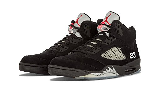 Jordan Air Jordan V Retro, Black/Silver Uk Size: 9