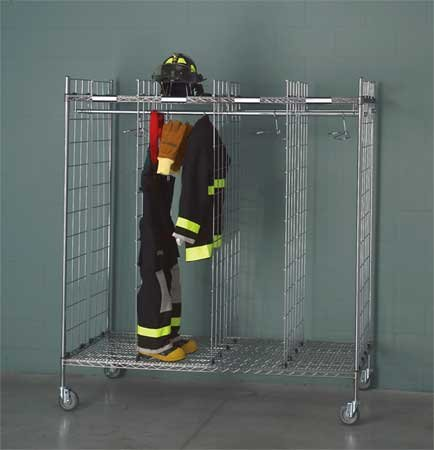 (Turnout Gear Rack, Mobile, 8 Compartment)