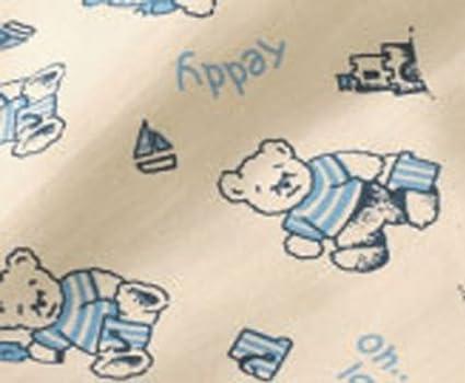 Bio Baumwolle Schlafsack mit Pl/üschfutter 70cm Motiv Teddy blau Cotonea