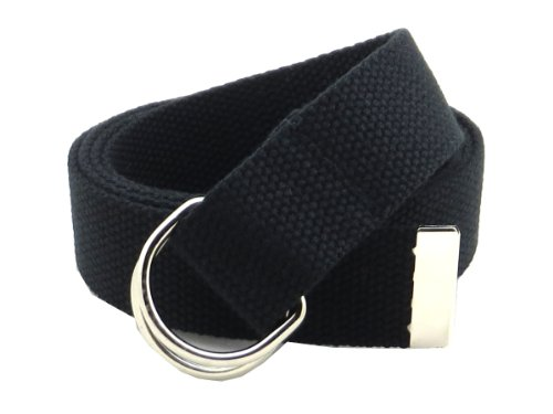 Canvas Cotton Belt (Thin Web Belt Double D-Ring Buckle 1.25