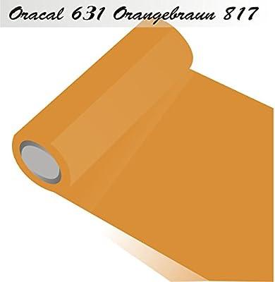 ORACAL 631 – Orafol Mate – Pantalla para plotter – para armarios de cocina y decoración de pantalla 5 m (Metro) rollo de lámina – 63 cm Altura, 817-Orangebraun, 63 cm: Amazon.es: Hogar