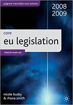Core Statutes on EU Legislation (Palgrave Core Statutes)