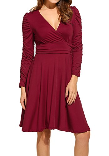 Buy long sleeve empire waist cocktail dress - 8