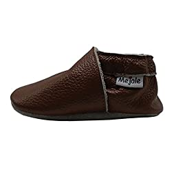 Mejale Baby Boy Shoes Soft Soled Leather Moccasins Anti-skid Infant Toddler Prewalker(brown,18-24 months)