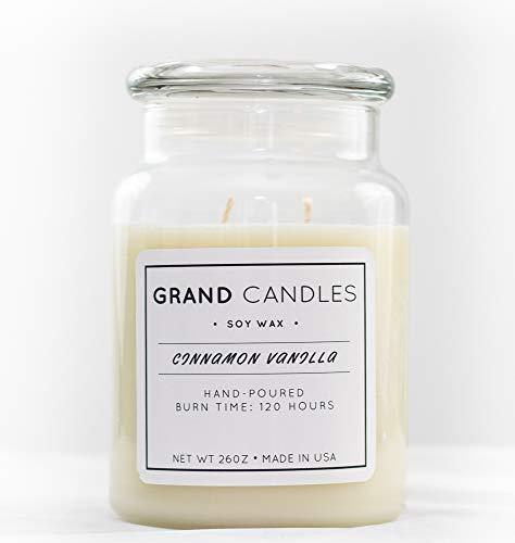 Cinnamon Vanilla Scented Soy Candle (Alluring Short)