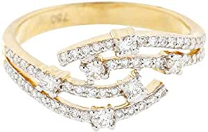 Women's 18K Yellow Gold Diamond Ring - Size 7 US