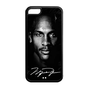 Chicago Bulls Michael Jordan Image Design Apple iPhone 5C TPU Case-by Allthingsbasketball