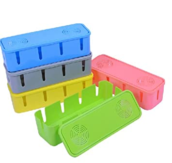 Cable// Wire//Cord Organizer Anti-dust Safety Box Storage Multi Power Plug Socket