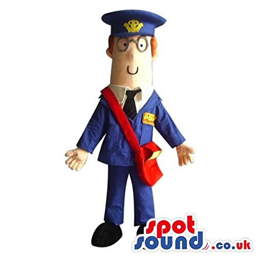 Costumes Postman (Cartoon Character SPOTSOUND US Mascot Costume Wearing Postman Garments And)