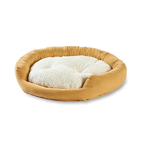 Happy Hounds Murphy Donut Large 42-Inch Dog Bed, Cream