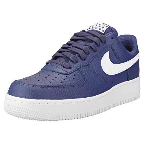 NIKE Mens Air Force 1 Low 07 Stars Basketball Shoes Blue Recall/White AA4083-401 Size 12